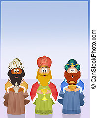 The three wise men - illustration of The three wise men