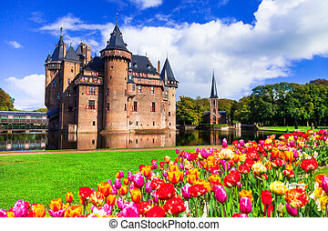 Incredible landscape ,blooming tulips. Holland - Beautiful...
