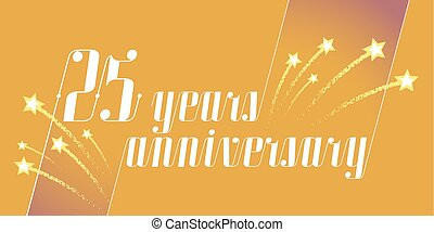 25 years anniversary vector icon, logo. Graphic design...