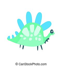 Colorful cute dinosaur. Prehistoric animal character vector Illustration