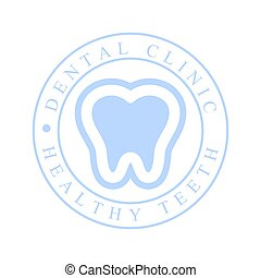 Dental clinic healthy teeth logo symbol vector Illustration