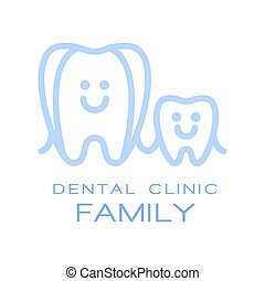 Family dental clinic logo symbol, vector Illustration