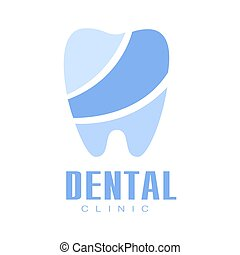 Dental clinic blue logo symbol vector Illustration