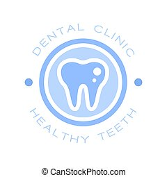 Dental clinic healthy teeth logo symbol, vector Illustration