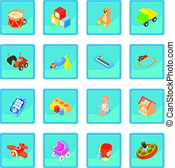 Childrens toys icon blue app for any design vector...