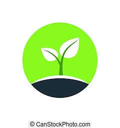 Eco logo, emblem, symbol. Vector Illustration