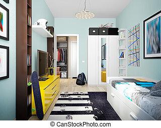 Modern Urban Contemporary Children Room