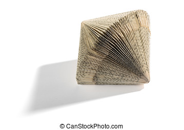 Ornamental geometrical concertina book shape with printed...