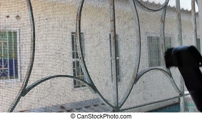 mosquito wire screen, Cleaning with Vacuum Cleaner