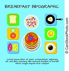 Colorful Breakfast Food Infographic Concept - Colorful...