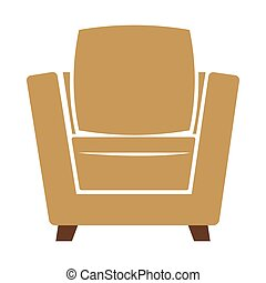Armchair icon vector illustration isolated on white...