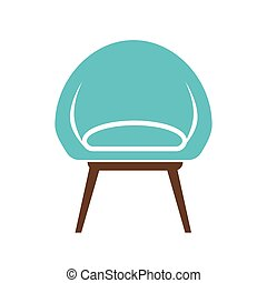 Chair icon vector illustration isolated on white background....