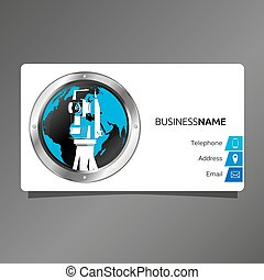 Business card for surveyor and cartography - Business card...