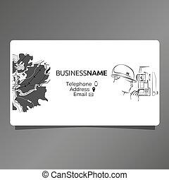 Business card for surveyor