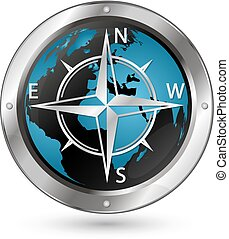 Wind rose symbol - The symbol of the wind rose against the...