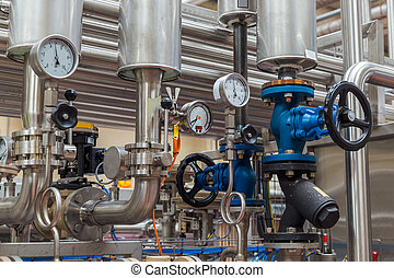 Factory equipment - technology background - Factory...
