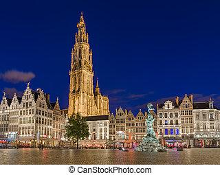 Grote Markt in Antwerp - Belgium - Grote Markt in Antwerp...