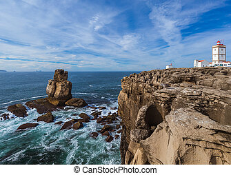 Lighthouse in Peniche - Portugal - travel background