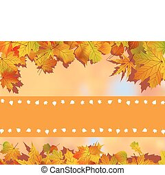 Thank You Card With A Leaves Background