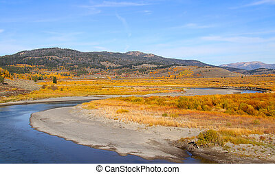 Yellowstone national park - Scenic landscape in Yellow stone...