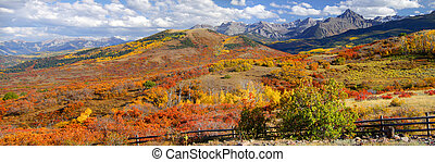 Dallas divide - Panoramic view of scenic autumn landscape...