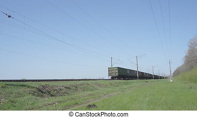 Cargo Train Pulls HD - Cargo train with wagons, a Train...
