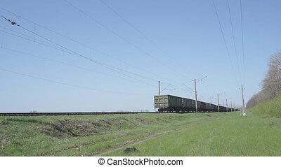 Cargo Train Pulls HD - Cargo train with wagons, a Train...