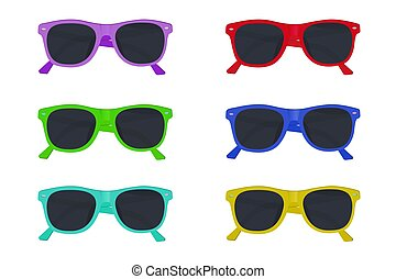 set of sunglasses, vector illustration
