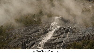 Stil,  -,  cinematic, wasserfall, Nebel, norwegen