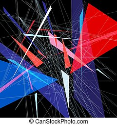 Bright abstract fantastic background with geometric elements