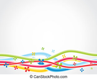 Abstract background with Flowers. A vector illustration