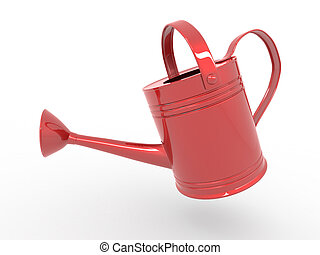 Watering can on white isolated background. 3d