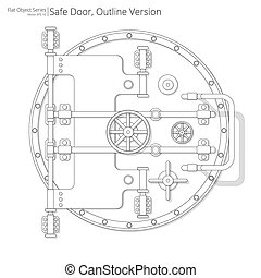 Safe and Vault Door. - Vector illustration of a Safe and...