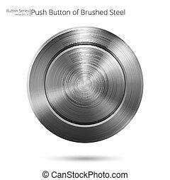Brushed steel Button.