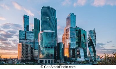 Moscow International Business Center so-called Moscow-City skyscrapers,