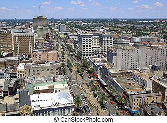 New Orleans, Louisiana, USA dontown skyline.