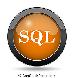 SQL icon. SQL website button on white background.