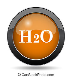 H2O icon. H2O website button on white background.