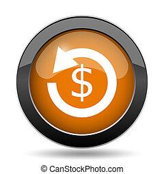 Refund icon. - Refund. icon. Refund. website button on white...