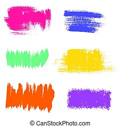 Vector grunge background elements. Textured brushstrokes. -...