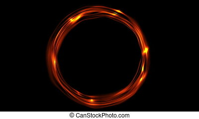 Glowing fiery ring video animation