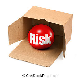 risk concept in box - risk concept, there is no infringement...