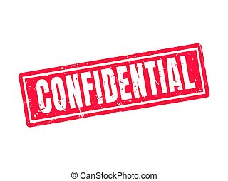 confidential red stamp style