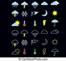 Wheater Flat Icon - Vector illustration of Weather Flat Icon