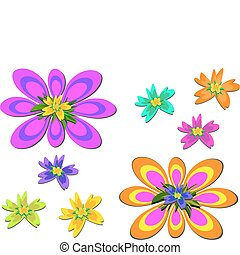 Mix of Brightly Colored Flowers