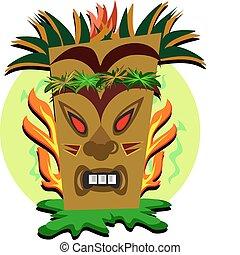 Tiki Teeth and Flames