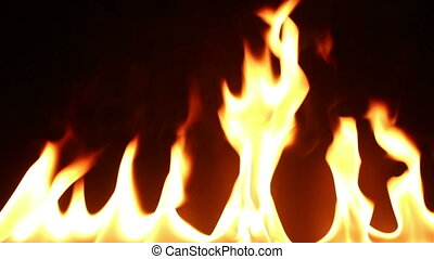 fire on isolated black