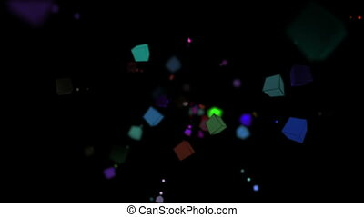cubes color particle