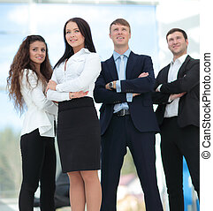 A group of successful business people