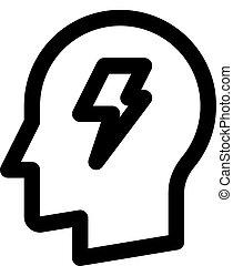 brainstorming head